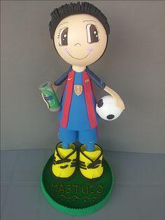 Buenos días...comenzaremos la semana con esta fofucha personalizada del Barça que nos encargó Jenny!!!