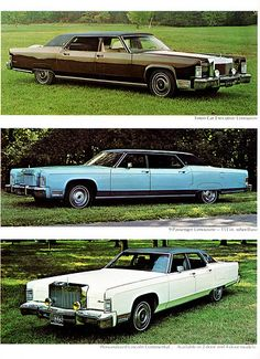 1974 Lincoln Continental Town Car Limousine Models LineUp by AHA Old American Cars, American Classic Cars, Ford Classic Cars, Limousin, Lincoln Continental, 1997 Lincoln Town Car, Vintage Cars, Antique Cars, Lincoln Motor
