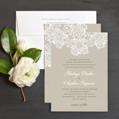 Elegant Lace Wedding Invitation