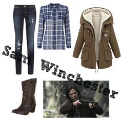 Grabbing her gun and a knife she heads out of the house towards the woods Supernatural Costume, Supernatural Inspired Outfits, Supernatural Fashion, Other Outfits, New Outfits, Cool Outfits, Fashion Outfits, Female Outfits, Women's Fashion