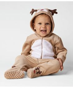 A cute novelty outfit with a reindeer theme, great for putting a smile on your face.