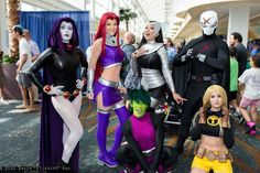 TEEN TITANS — Raven, Starfire, Beast Boy, Blackfire, Red X, and Terra - COSPLAY IS BAEEE!!! Tap the pin now to grab yourself some BAE Cosplay leggings and shirts! From super hero fitness leggings, super hero fitness shirts, and so much more that wil make you say YASSS!!!