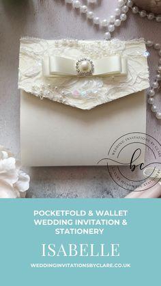 Bespoke Wedding Invitations, Pocket Invitation, Luxury Card, Bespoke Design, Luxury Wedding, Monet, Decorative Boxes, Wedding Inspiration, Bling