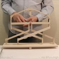 Watch the video and join the fun convo with community Stem Projects, Science Projects, Wood Projects, Projects To Try, Woodworking Projects, Craft Stick Crafts, Diy And Crafts, Robotics Projects, Perpetual Motion