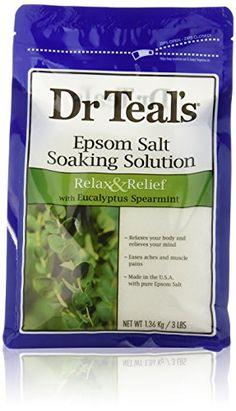 Dr. Teal's Epsom Salt Soaking Solution with Eucalyptus Spearmint, 48 Ounce Dr. Teal's http://www.amazon.com/dp/B003GC4GHM/ref=cm_sw_r_pi_dp_zY3ovb1TWARR0