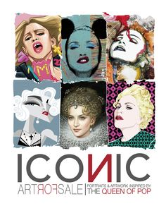 """ICONIC - Portraits & Artwork inspired by The Queen of Pop A project by Gabriele Ferrarotti, Ettore Ventura and Michele Sacco Online the catalogue of all exhibited artwork (in single or limited edition pieces) of the ICONIC exhibition, an iconografic tour through the art created by MADONNA's fans in honor of the only Italian performances of the """"Rebel Heart Tour"""". information contact: Gabriele Ferrarotti: gabriele.ferrarot... Ettore Ventura: ettorevent69@gmail.com"""