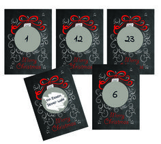 DIY Adventskalender, Weihnachtskalender basteln, Adventskalender zum Rubbeln, Rubbellos