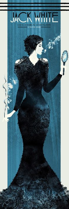 I love the textures on these Jack White prints! Silent Giants 12″ x 36″ screenprints