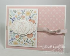Embossing Paste , Powder Pink , Delightful Daisy designer paper , Dawn Griffith