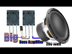 How to make big bass Amplifier with Transistor - Bass Amplifier Electronic Circuit Projects, Electronic Engineering, Bass, Genetic Algorithm, Car Audio Installation, Diy Amplifier, Speaker Box Design, Audio Design, Audio Speakers
