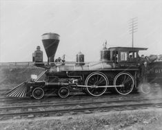 "Classic ""American"" type 4-4-0 Civil War era locomotive."