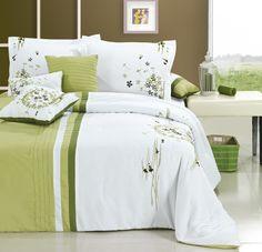 Arabesque Sage Comforter Set. By #Chic Home #Luxbed #Comfoter #King #Queen #Bedroom