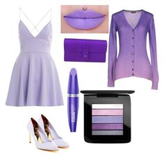 """""""Purple """" by sydney603 ❤ liked on Polyvore featuring AX Paris, Ted Baker, Gucci, Max Factor, MAC Cosmetics and Colmar"""