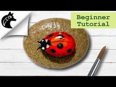 Rock Painting Tutorial For Beginners Ladybug. Hi friends, a small surprise for you. I paint an other ladybug rock for you. Thanks for wa. Rock Painting Ideas Easy, Rock Painting Designs, Painting For Kids, Dot Painting, Pebble Painting, Pebble Art, Stone Painting, Lady Bug Painted Rocks, Painted Rocks Craft