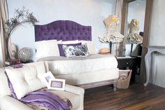 Combinación del violeta con otros colores para la habitación. #Room #Decoration #Home