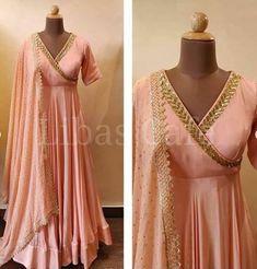 Sakshi Girlish Green Designer outfit New Traditional Wedding Latest Designer Anarkali Dresses, Brocade Dresses, Designer Dresses, Anarkali Dress Pattern, Saree Dress, Traditional Gowns, Traditional Wedding, Ethnic Outfits, Indian Outfits