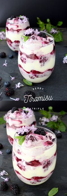 Berry Tiramisu Trifle Recipe | CiaoFlorentina.com