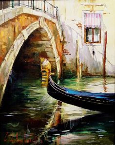 Russian artist Gleb Goloubetski | Venice 78x63 2004 — with Graham Powell. Tags: Graham Fine Art