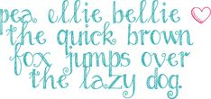 Free Handwriting Fonts - 20 new fonts by Amanda for Fonts for Peas (isn't this pea ellie bellie font lovely!?!)