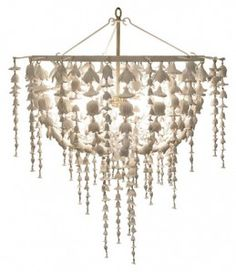 Oly The Flower Fall Chandelier features an abundance of cast resin flowers cascading from the antique white frame. All of springs flowers are preserved and forever in bloom in this delicate bowl pendant. Flower Chandelier, White Chandelier, Chandelier Lighting, Beaded Chandelier, House Lighting, Bedroom Lighting, Nautical Chandelier, Country Chandelier, Shell Chandelier