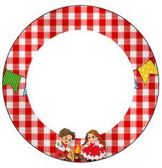 Toppers Kit Festa Junina Vermelho e Branco