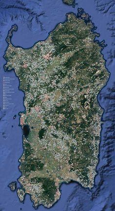 Sardegna nuragica -Mappatura di Nuraghi, Tombe di giganti, Pozzi sacri e tanto altro. Fonte #Nurnet. #Sardinia #Cerdeña #Sardegna #Nuragic