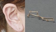 Constellation earrings.