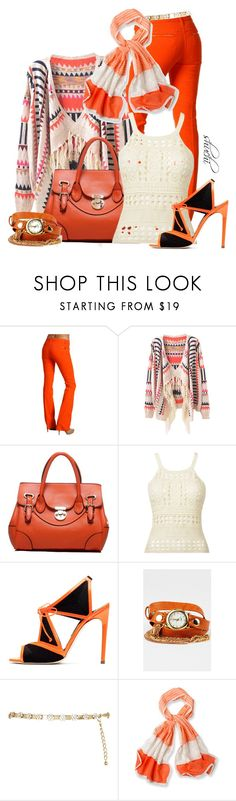 """Intarsia Cashmere Cardigan"" by shuchiu ❤ liked on Polyvore featuring Dsquared2, Rupert Sanderson, La Mer, River Island and prAna"
