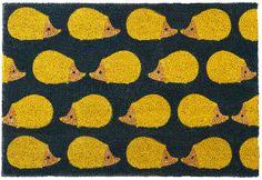 Anorak - Kissing Hedgehogs Doormat Textile Patterns, Textiles, Hedgehogs, Doormat, Kissing, Color Splash, Kitchen, Cooking, Hedgehog