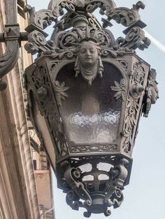 Lamplight, Opera de Nice, France An image travel guide about things to do in… Art And Architecture, Architecture Details, Sculpture Metal, Lantern Lamp, Nice France, Iron Art, Street Lamp, Objet D'art, Architectural Elements