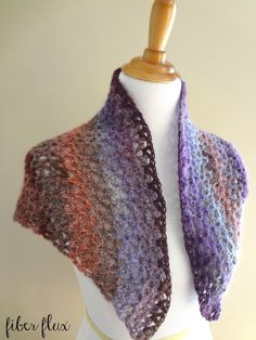 Fiber Flux: Free Crochet Pattern...Kristen Shawl!