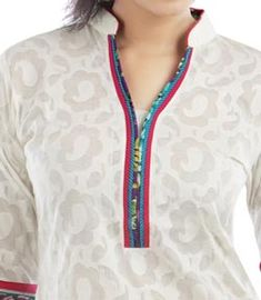 Chinese Collar Neck Designs 2015 for Kurti Shirt Kameez Salwar Chudidhar Designs, Chudi Neck Designs, Neck Designs For Suits, Dress Neck Designs, Collar Designs, Mehndi Designs, Churidar Neck Designs, Kurta Designs, Blouse Designs