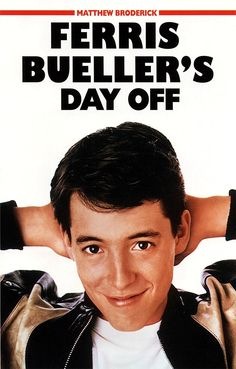 Ferris Bueller's Day Off on DVD from Paramount Pictures. Directed by John Hughes. Staring Matthew Broderick, Alan Ruck, Cindy Pickett and Jeffrey Jones. More Comedy, Coming-Of-Age and High School DVDs available @ DVD Empire. High School Movies, 80s Movies, Great Movies, Movies To Watch, Awesome Movies, Ferris Bueller, Film Music Books, Music Tv, Movies Showing