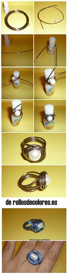 Wire wrapped rings 371828512977122945 - bague perle alu Source by Diy Schmuck, Schmuck Design, Wire Crafts, Jewelry Crafts, Beaded Rings, Beaded Jewelry, Bijoux Fil Aluminium, Diy Rings, Wire Wrapped Rings