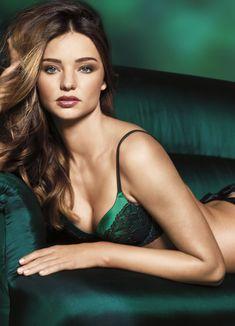 Green lingerie - Miranda Kerr
