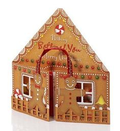 Gingerbread House Large Christmas Card