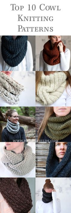 Top 10 Cowl Knitting Patterns by Brome Fields