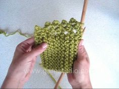 DROPS Knitting Tutorial: How to work a picot edge. Knit back and forth on needles. Row 1: knit all sts Row 2: knit all sts Row 3: knit to la...