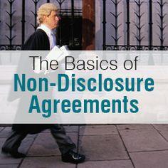 Startup Advice - NDA - The Basics of Non-Disclosure Agreements