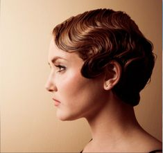 Hairstyle for the wedding if I keep my hair short! :) Finger Wave by Lea Journo