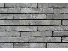 Klinkerriemchen / Retro Riemchen K297R / Klinker / Fassade / Muster / Tafel / graubunt gedämpft