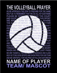 The Volleyball Prayer Personalized with by JoFloDesigns33 on Etsy