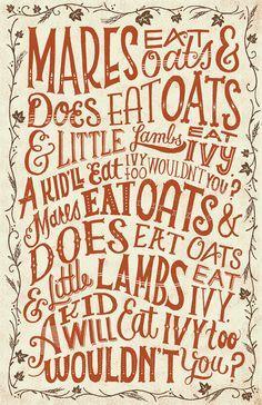 Mares Eat oats