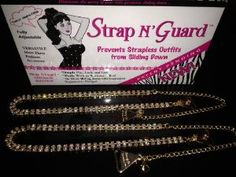 New Pin-Straps ~ Crystal Diamante Double Row Gold Versatile Straps with a Bling! StrapN'Guard® Exclusive Brooch Pin Hooks--Secures Restyles Women Clothing by StrapN'Guard Accessories. $29.95. Prevents Strapless from Slipping Down--Works with or Without a Bra--NO sewing required--100% Satisfaction Guaranteed. Double Row Pin-Straps (Gold colour), Brand New to Market (StrapN'Guard Multifunctional Pin-Straps) ~ Ordinary Bra Straps with a New Function (Brooch pin-hooks)...