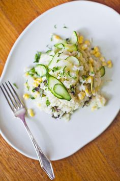 Loves, here's our tasty choice for Meatless Monday. Yummy summer squash and corn risotto. Just click the photo and get the recipe found only in Cotton Candy Magazine®.  CottonCandyMag.com