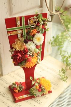 Japanese New Year, Japanese Style, New Years Decorations, Table Decorations, Fresh Flowers, Quilling, Wedding Cards, Flower Arrangements, Bouquet