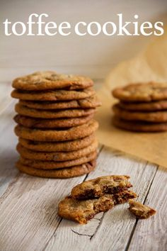 Milk Chocolate Toffee Cookies