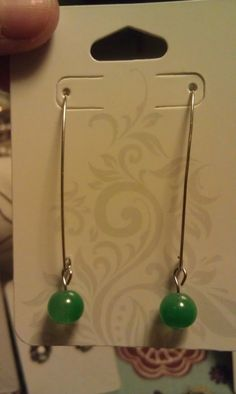 Simple green Earring set by AdelaidsCreations on Etsy, $5.00