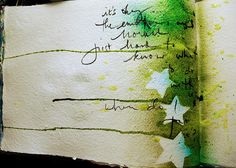 Dina Wakley journal page.