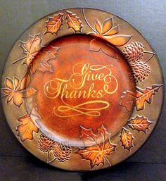 Decorative Thanksgiving Charger Plate